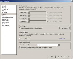 1. Lync Client - Enable integration