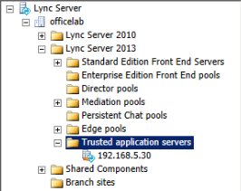 3. Topology Builder - Trusted Application Servers