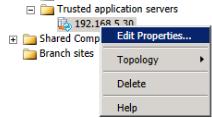 4. Topology Builder - Edit Proprties