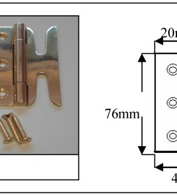 189 Solid Brass Simplex Hinges (pair) Polished Brass